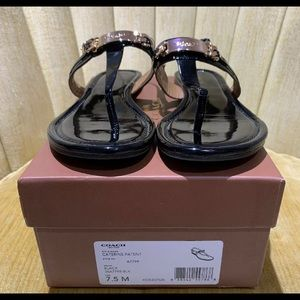 Coach Caterine patent leather sandals